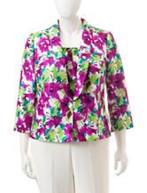 Kasper Plus-size Floral Print Jacket