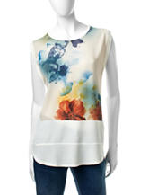 Hannah Watercolor Floral Print Top