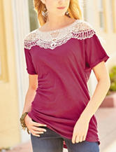 Hannah Lace Accent Dolman Top