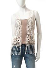 Hannah Fringe Crochet Vest