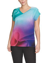 Chaus Gentle Waves Multicolor Knit Top