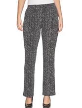 Chaus Black & White Speckle Print Pants