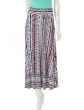 Hannah Striped Geo Print Maxi Skirt