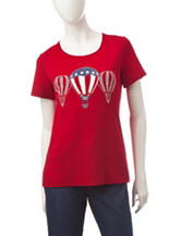 Rebecca Malone Americana Embellished Balloon Top