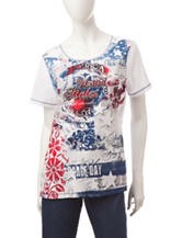 Blue Canyon Americana Embellished Top