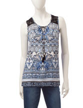 Hannah Mixed Paisley Print Lace Top
