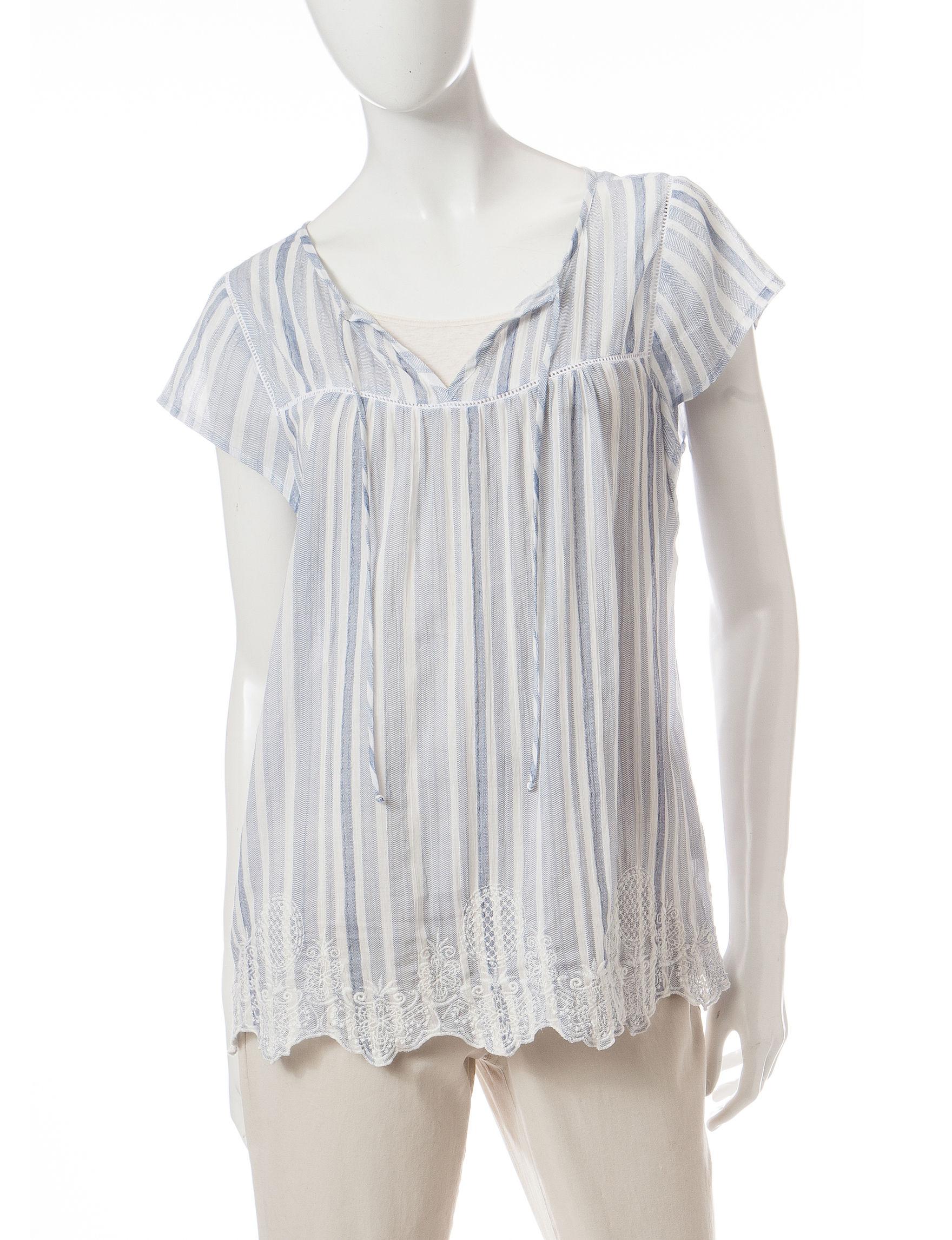 Hannah Blue / White Shirts & Blouses