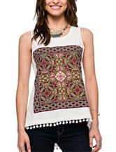 Skyes The Limit Foulard Screen Print Top