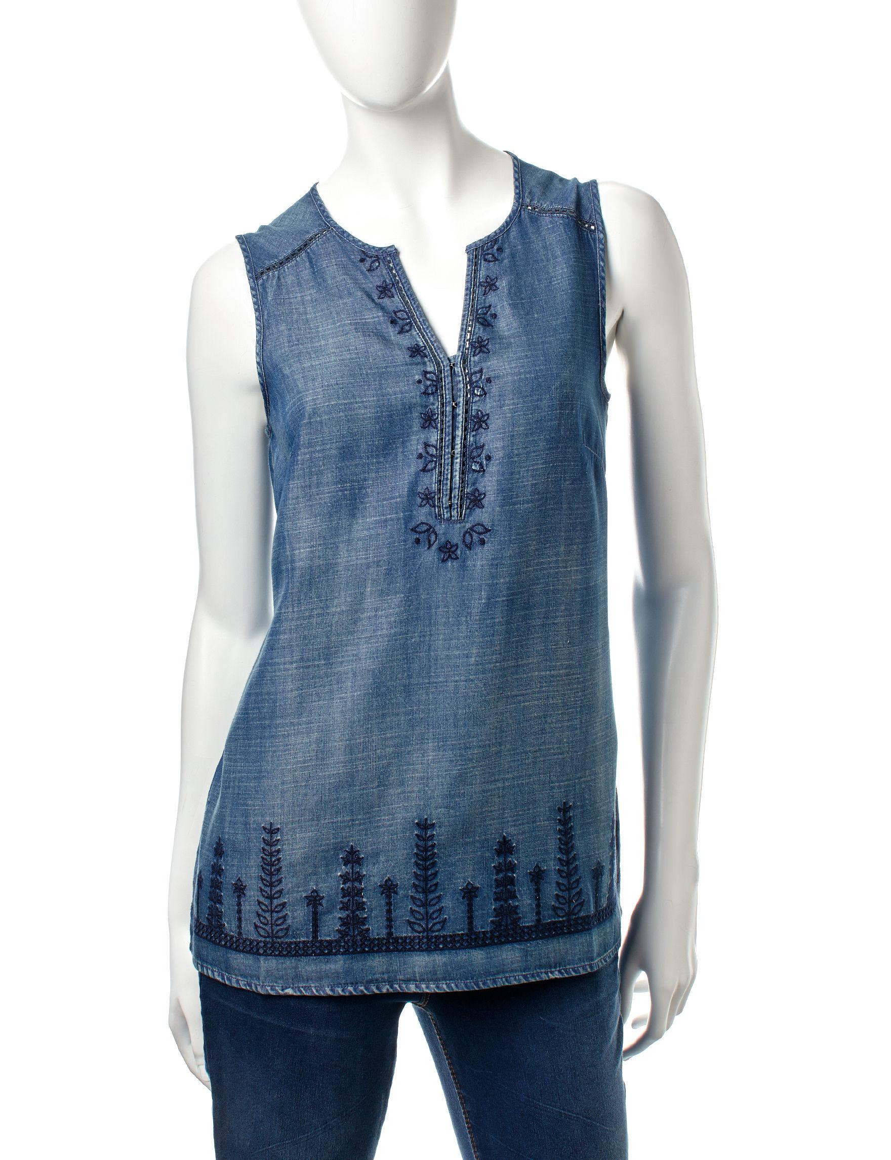 Vintage America Blues Indigo Shirts & Blouses
