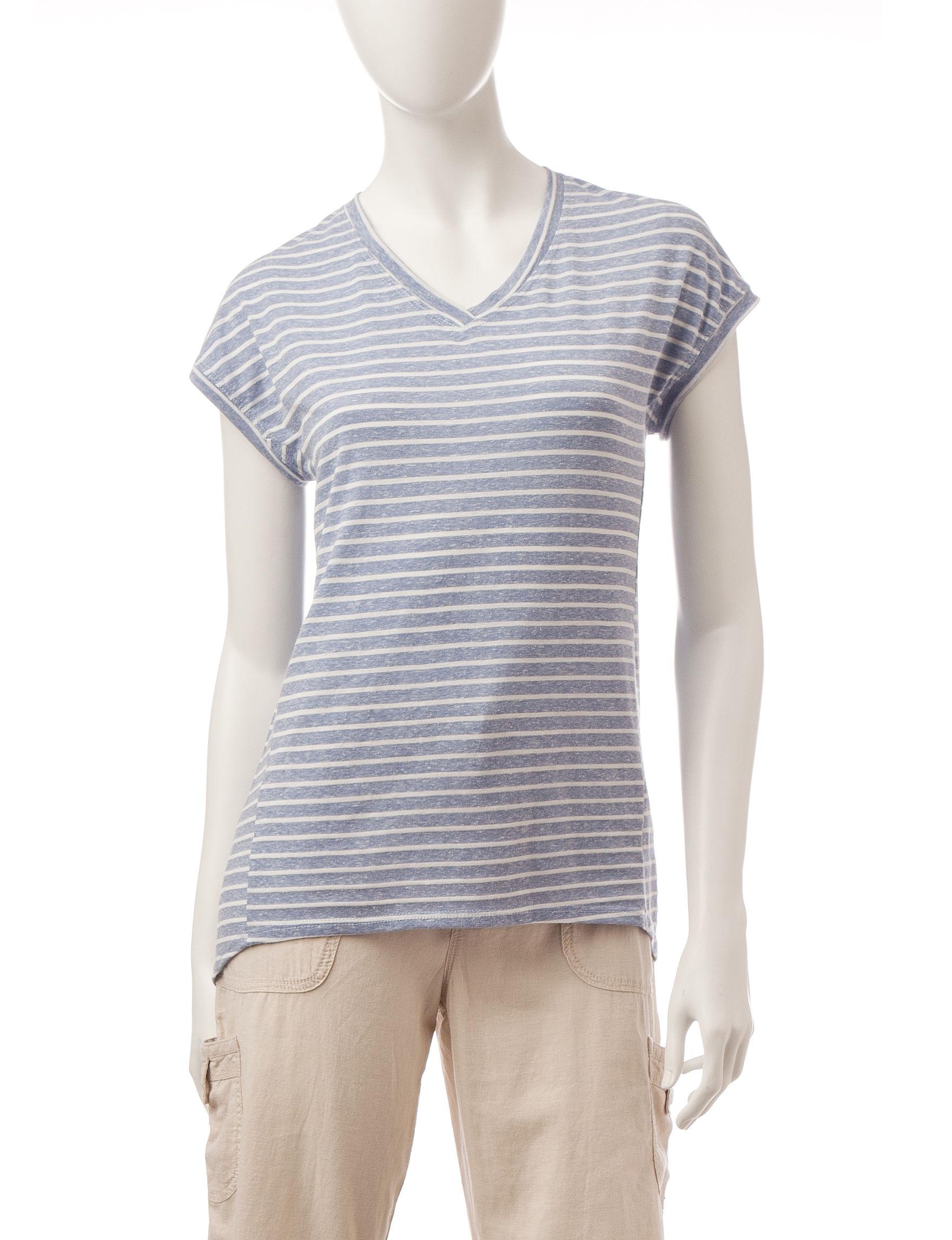Silverwear Blue / White Tees & Tanks
