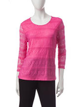 Cathy Daniels Lace Knit Top