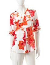 Calvin Klein Flower Woven Blouse