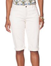 Chaps Cream Roll Cuff Shorts