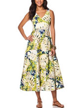 Chaps Tropical Print Maxi Dress