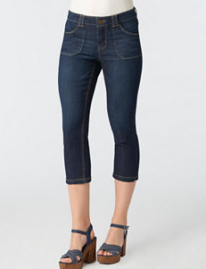 Democracy Dark Wash Skinny Crop Jeans