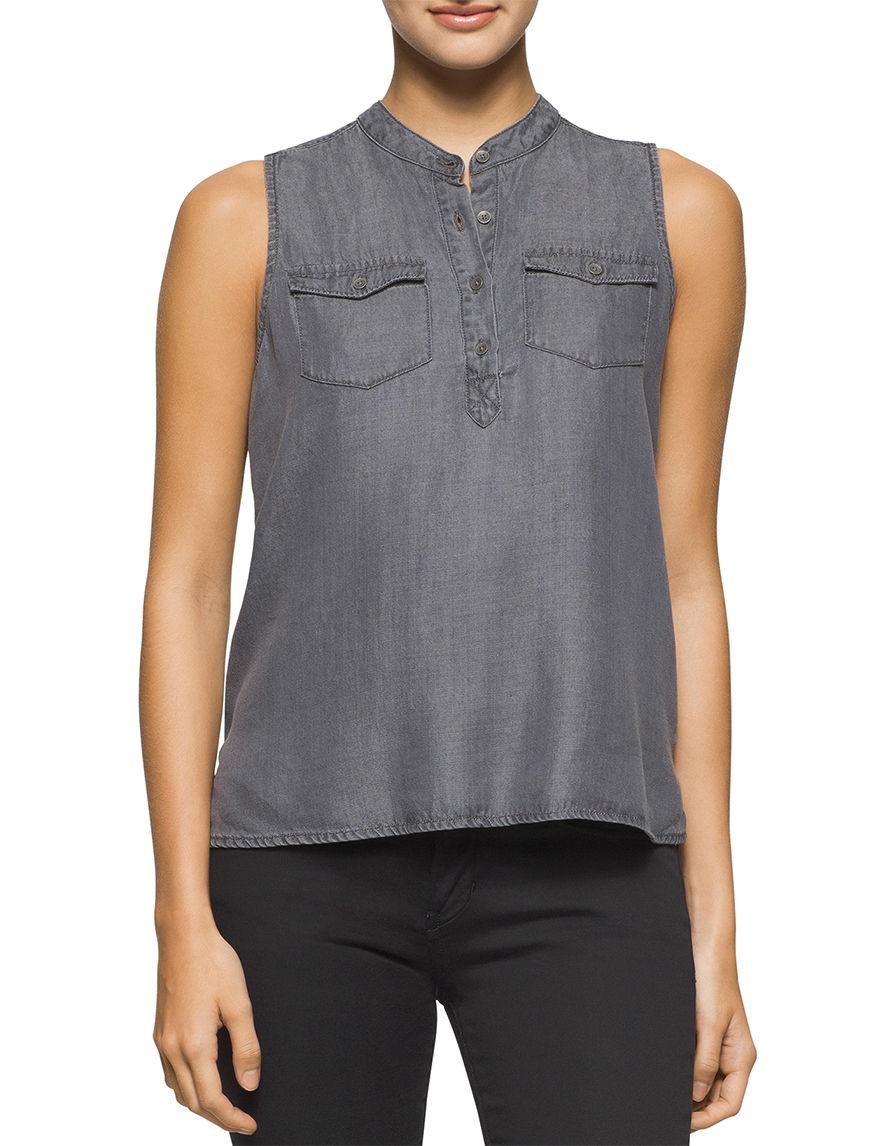 Calvin Klein Jeans Black / Brown Shirts & Blouses