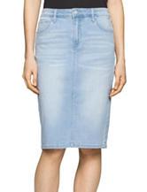 Calvin Klein Jeans Light Wash Denim Pencil Skirt