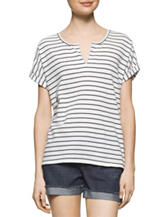 Calvin Klein Jeans Textured Striped Henley Top