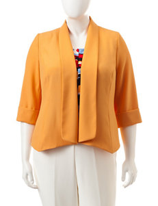 Kasper Plus-size Yellow Flyaway Jacket