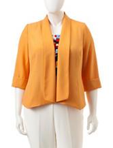 Kasper Plus-size Yellow Flyaway Jacket