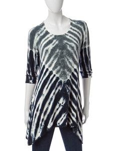 Onque Casuals Tie Dye Print Sharkbite Top