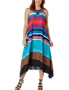 Rafaella Striped Print Maxi Dress