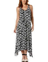 Rafaella Black & White Abstract Print Maxi Dress