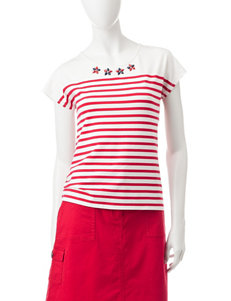 Hearts of Palm Red Multi Tees & Tanks
