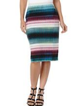 Rafaella Mulicolor Striped Print Pencil Skirt
