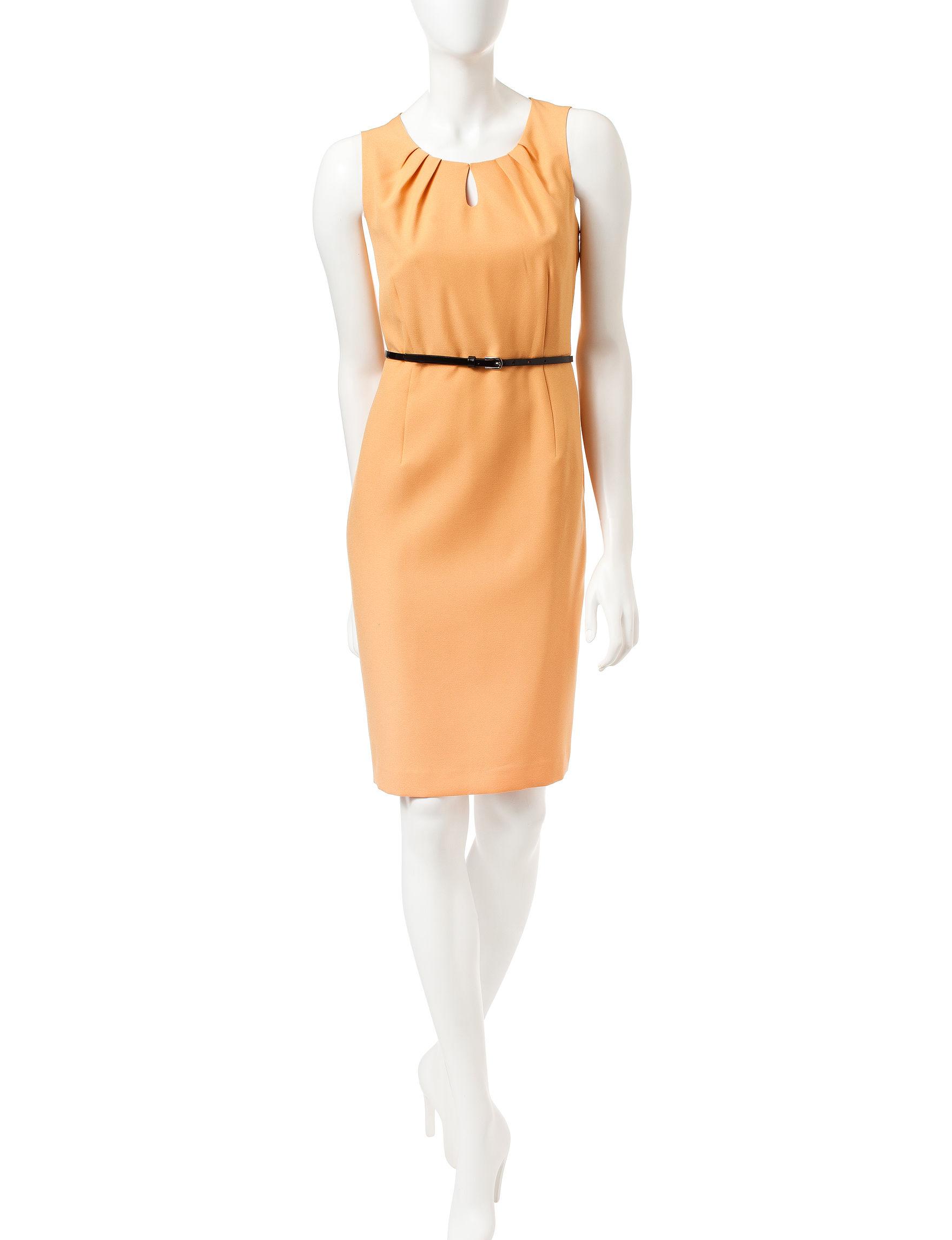 Kasper Yellow A-line Dresses