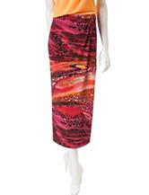 Kasper Animal Print Sarong Skirt