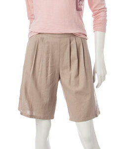 Valerie Stevens Lace Trim Bermuda Shorts