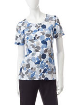 Rebecca Malone Paisley Print Knit Top