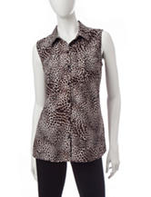 Notations Animal Print Top