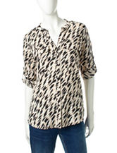 Clavin Klein Animal Print Utility Top