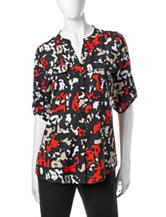 Clavin Klein Abstract Print Utility Top