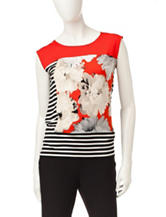 Calvin Klein Floral Striped Top