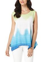 Rafaella Tie Dye Burnout Knit Top