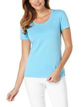 Rafaella Light Blue Knit Top