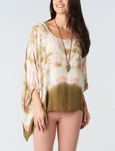 Democracy Tie Dye Poncho Top