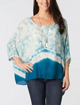 Democracy Tie Dye Print Poncho Top