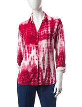 Cathy Daniels Tie-Dye Knit Top