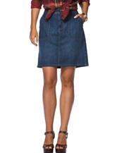 Chaps Medium Wash Denim Skirt