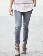 Hannah Dark Grey Wash Skinny Jeans