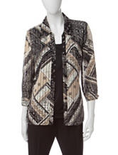 Rebecca Malone Patchwork Print Layered-Look Top