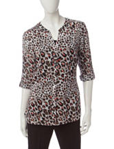 Rebecca Malone Animal Print Top