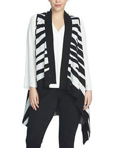 Chaus Zebra Print Sweater Vest
