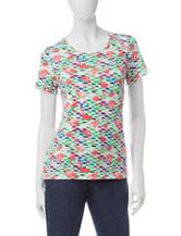 Rebecca Malone Flamingo Print Knit Top