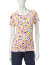 Rebecca Malone Lemon Print Knit Top