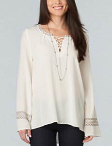 Democracy Lace Accent Peasant Top